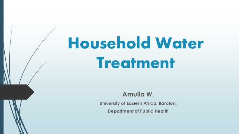 Household Water Treatment
