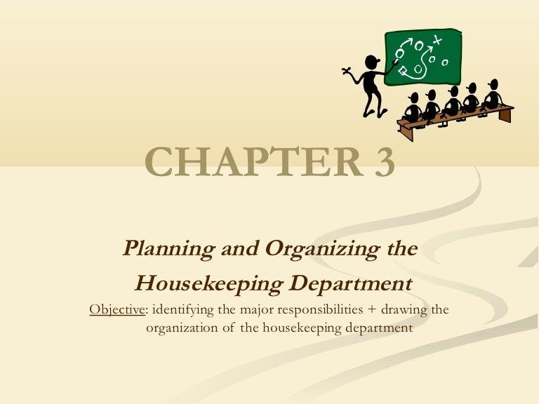 housekeeping department of hotel - Housekeeping Responsibilities