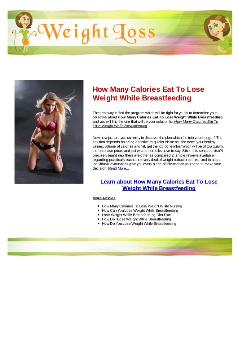 How Many Calories Eat To Lose Weight While Breastfeeding
