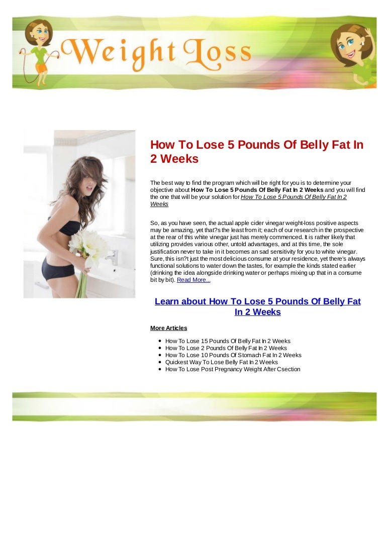 How to lose 5 pounds of belly fat in 5 weeks