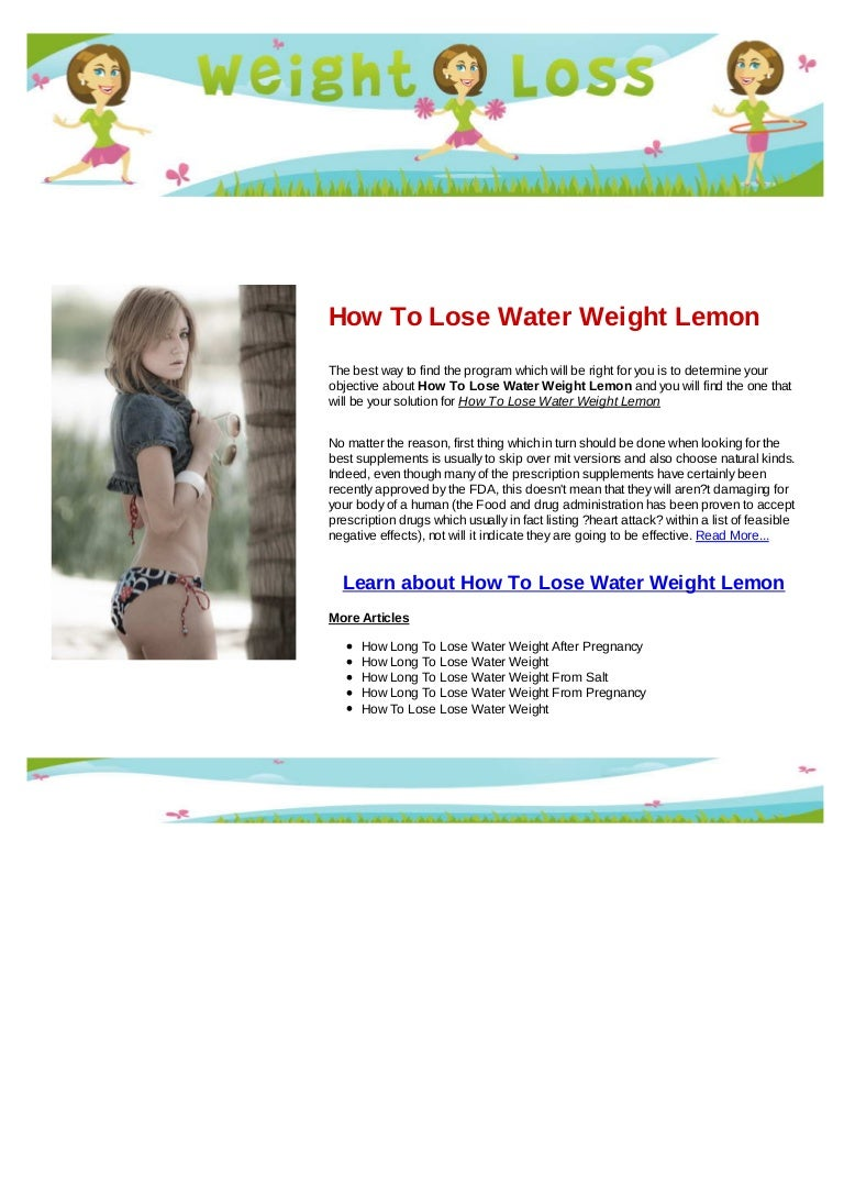 how long to lose water weight from pregnancy
