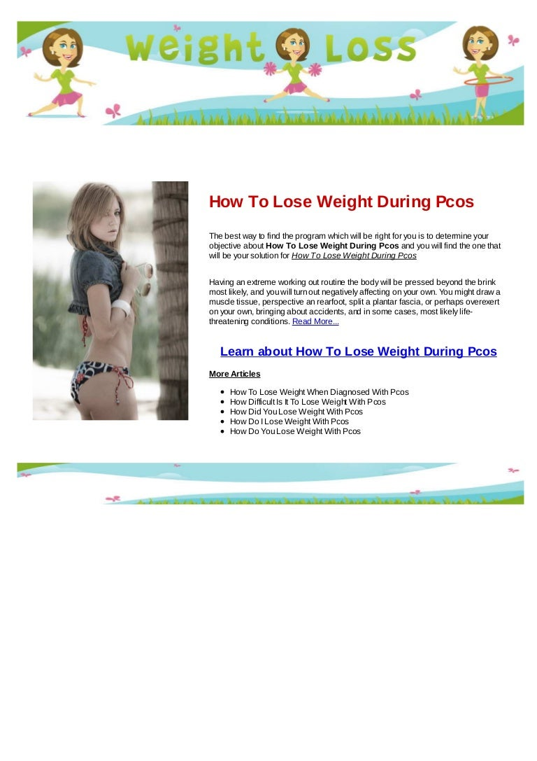 ways to lose weight fast with pcos