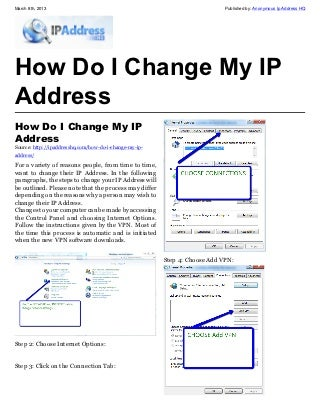 How Do I Change My IP Address