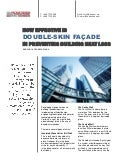 How effective is double skin façade in preventing building heat loss