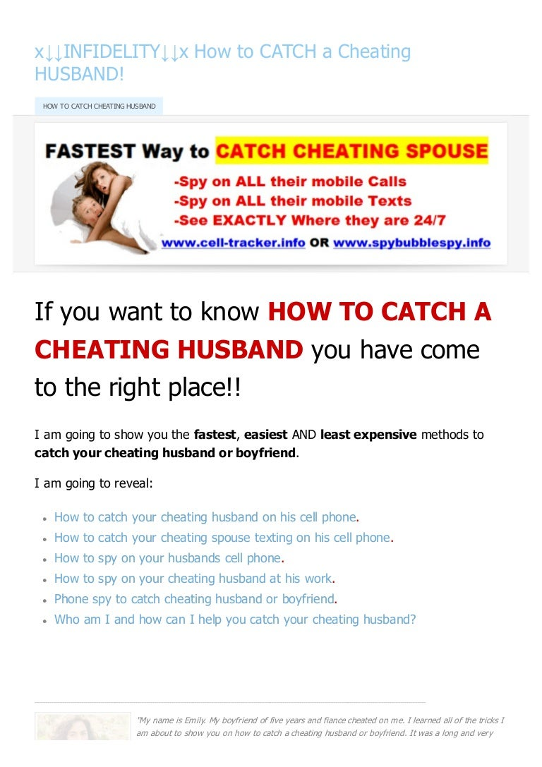 How To Catch My Husband Cheating On Cell Phone