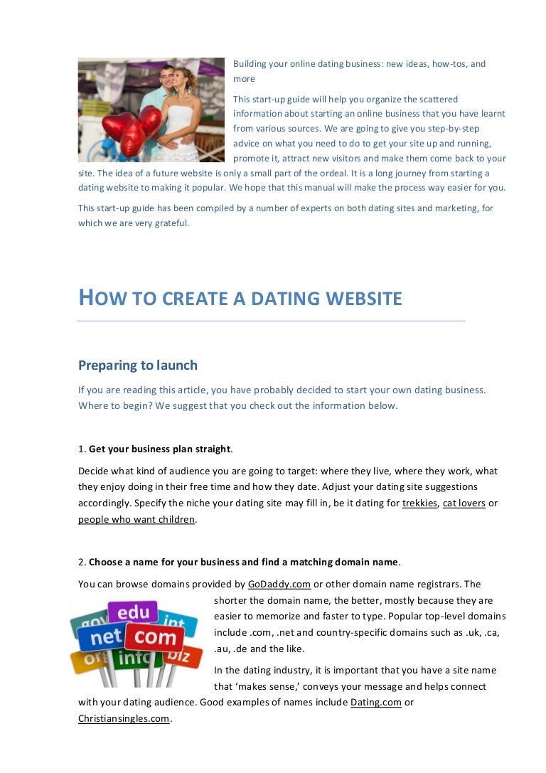 how to create your own dating site