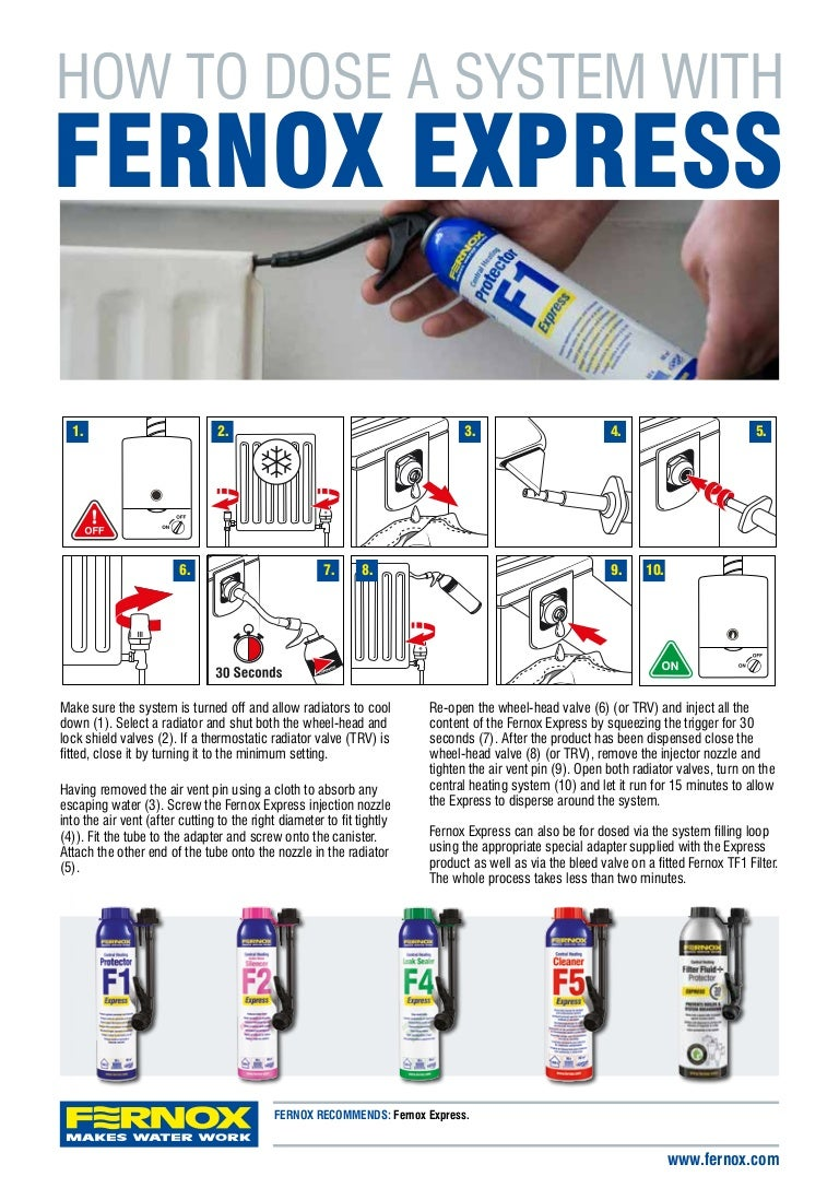 How to Dose A Central Heating System with Fernox Express