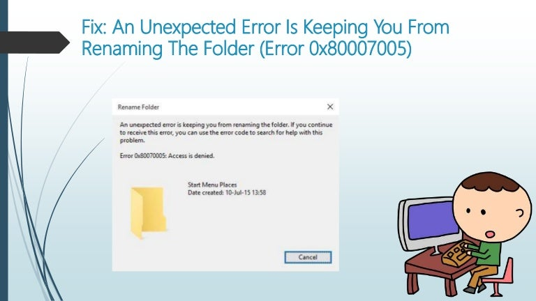 How To Fix An Unexpected Error Is Keeping You From Renaming