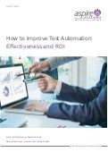 How to improve test automation effectiveness and roi
