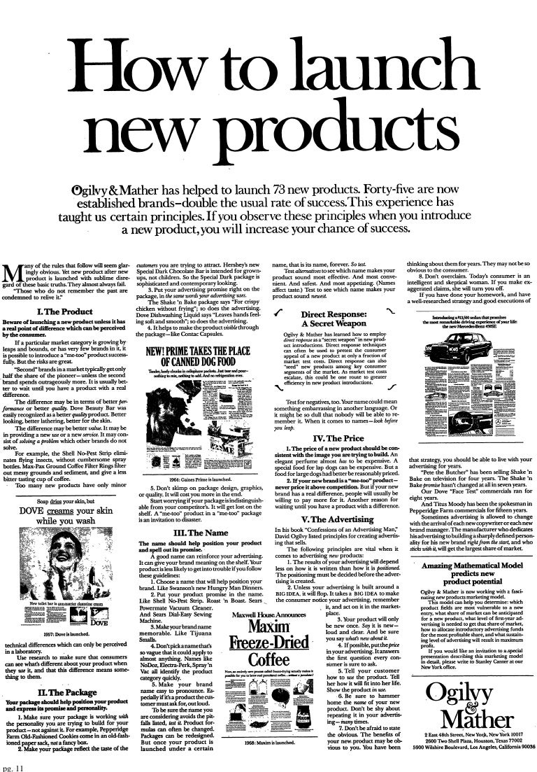 How to Launch New Products by #DavidOgilvy