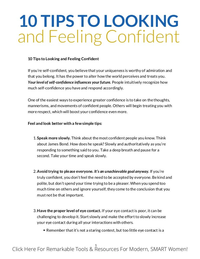 Tips to be confident in yourself