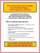 how to make my girlfriend happy