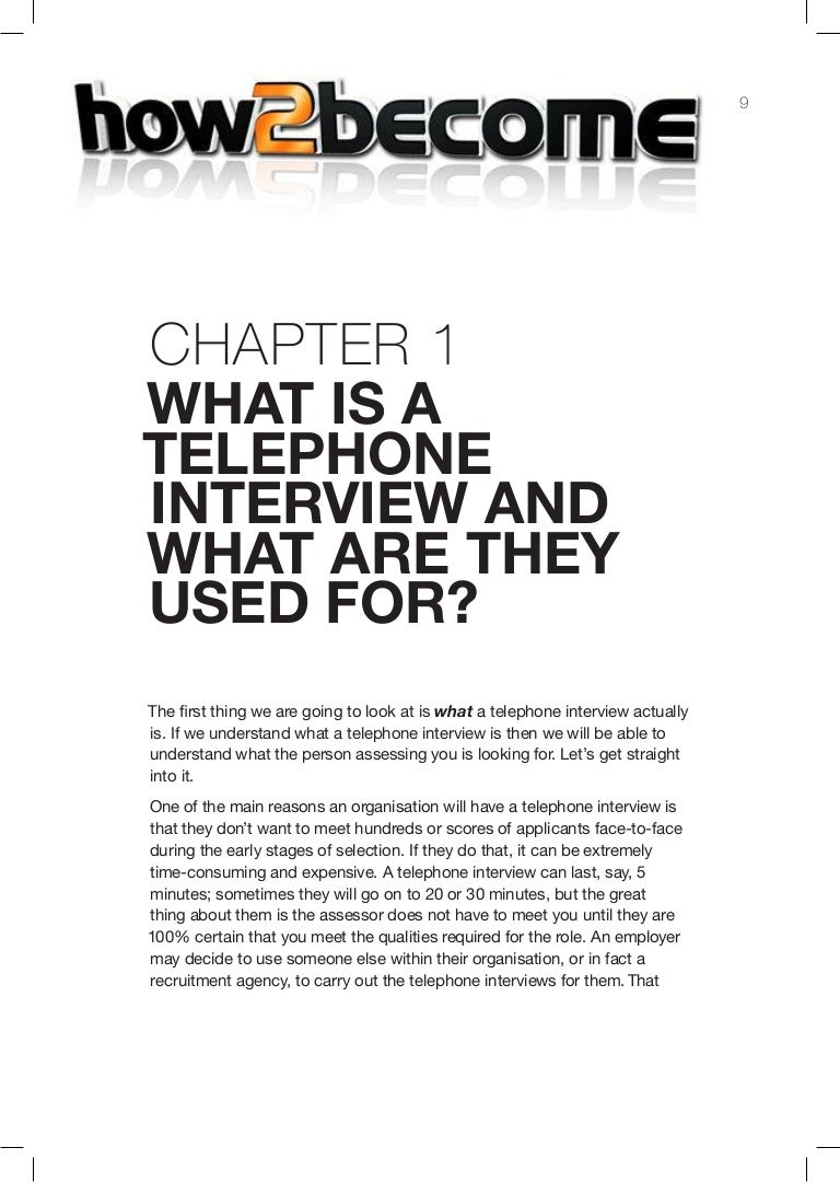 tips for passing a telephone interview