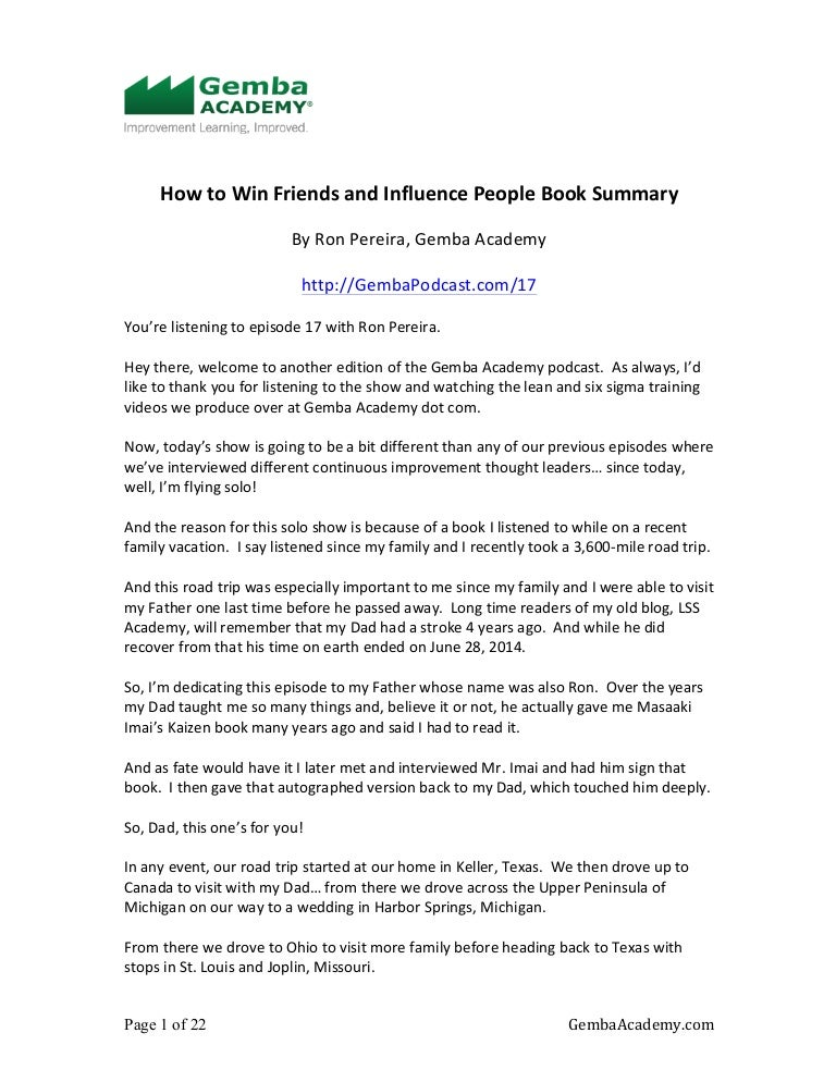 How to win friends essay