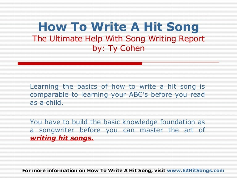 Learning how to write songs