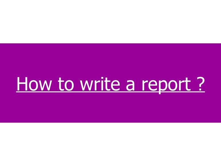 How to write after event reports