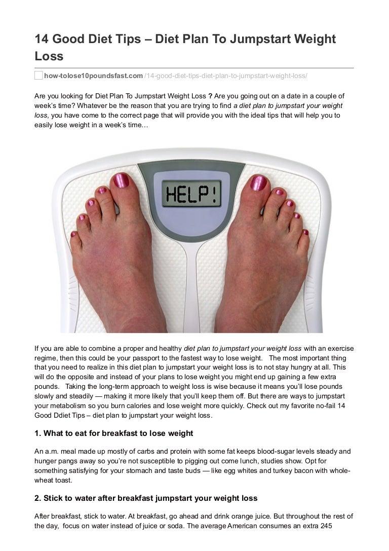 How to jumpstart a weight loss plan