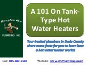 A 101 On Tank-Type Hot Water Heaters