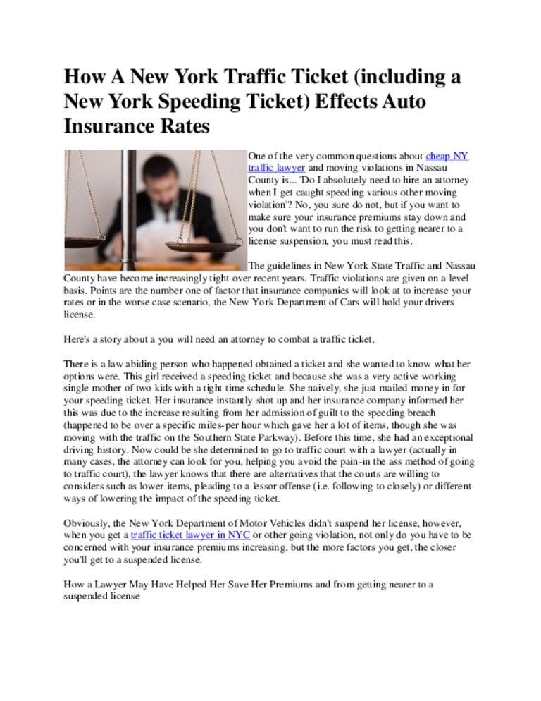Nyc Traffic Ticket >> How A New York Traffic Ticket