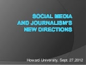 Social Media and Journalism's New Directions