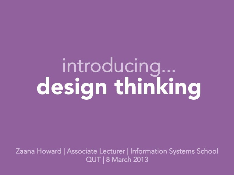 Introducing Design Thinking