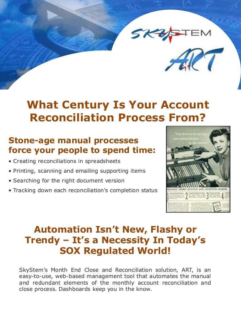 how art improves account reconciliation the financial close process