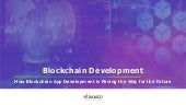 How Blockchain App Development is Paving the Way for the Future