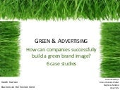 How can companies successfully build a green brand image