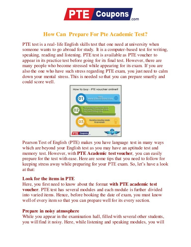 how to prepare for pte academic test