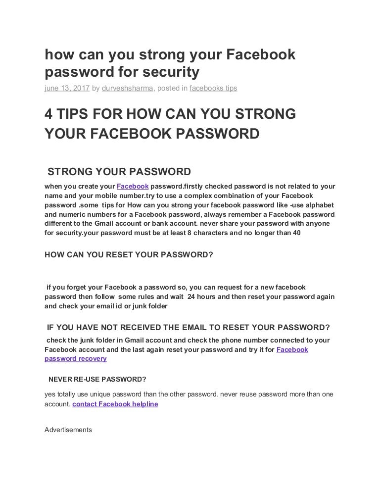 How To Reset Facebook Password Without Email Id And Phone