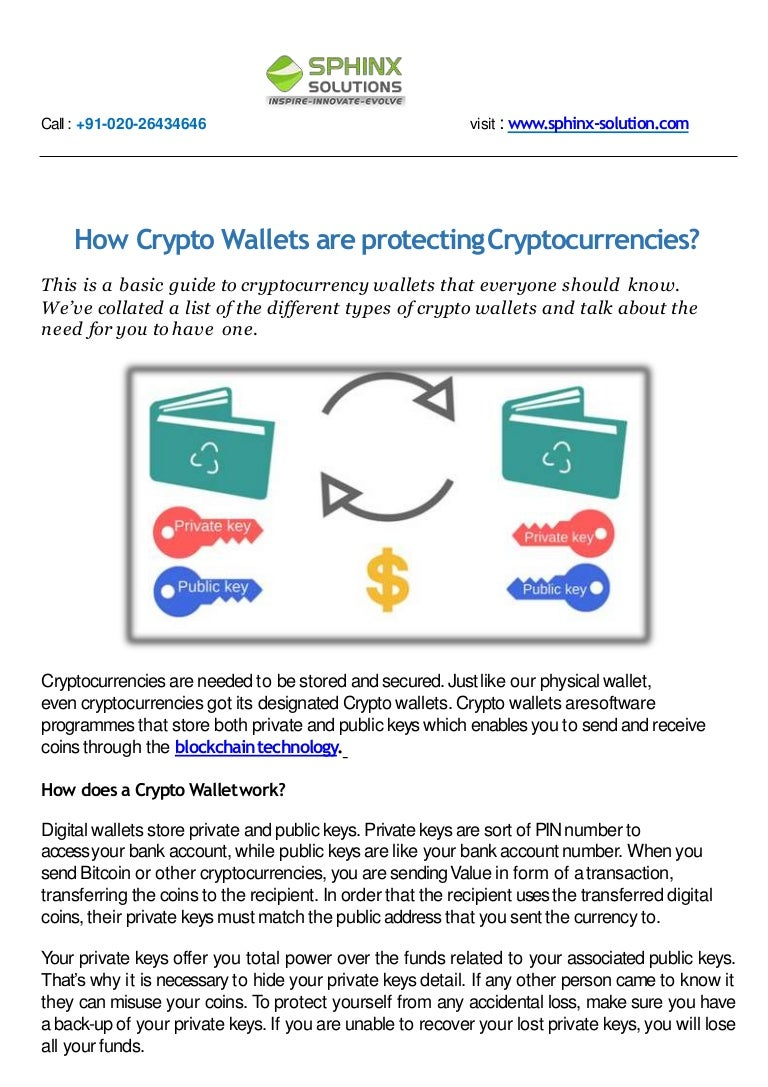 how do cryptocurrency wallets work