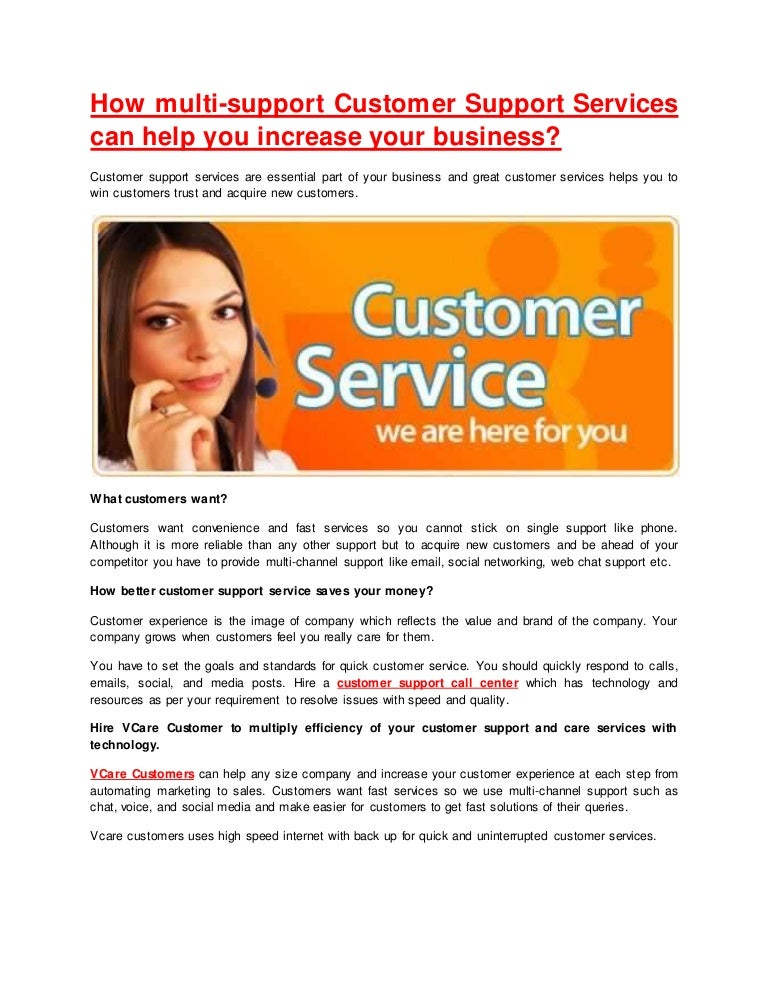 How Customer Support Services Can Help You Increase Your Business