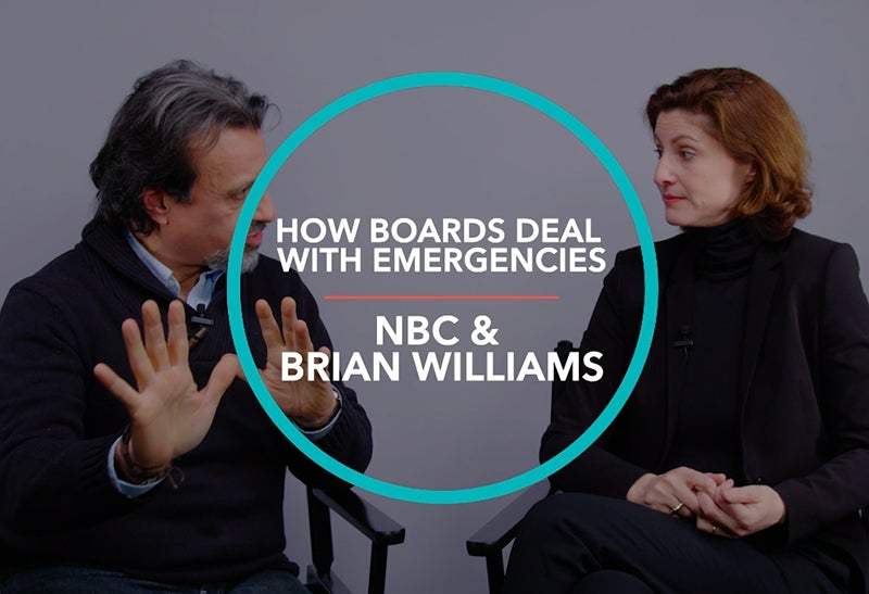 How Boards Deal with Emergencies: NBC & Brian Williams