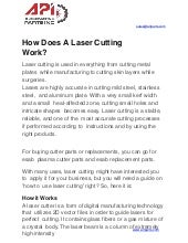 How Does A Laser Cutting Work?