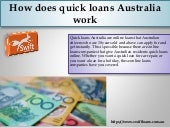 How does quick loans australia work