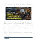 How do you take advantage of travel trade show in the post pandemic era