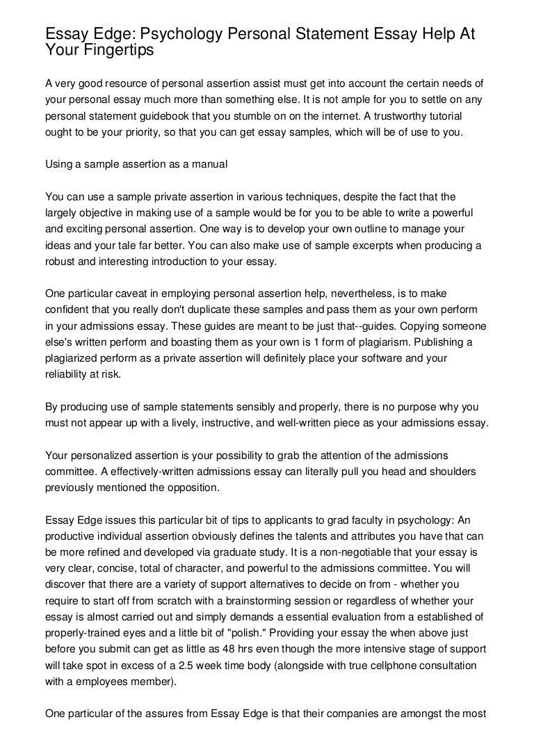 psychology essay essay edge psychology personal statement essay ...
