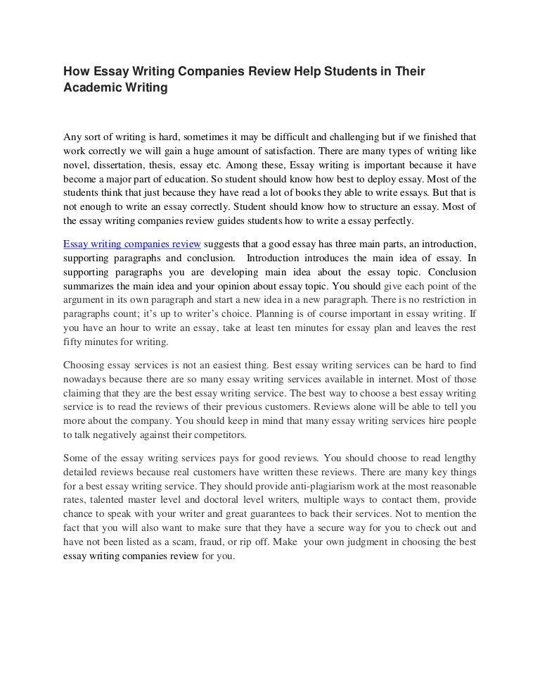 Best college essay writing companies 2017