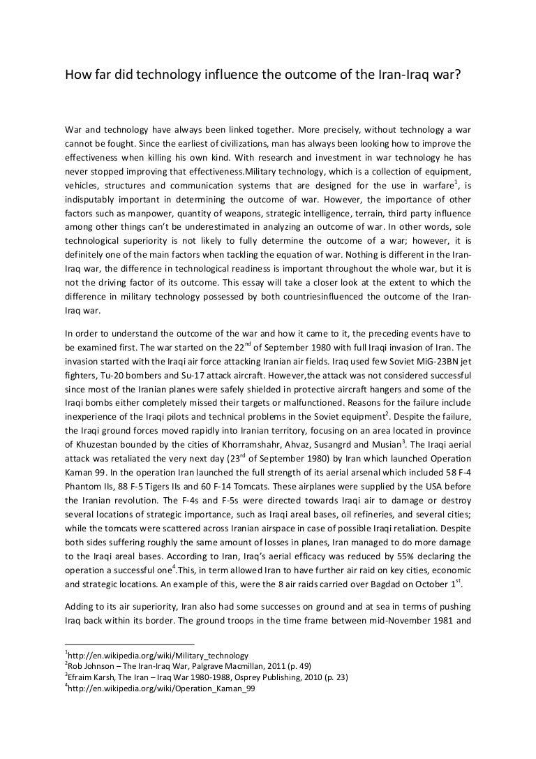 Iraq War Essay | Bartleby