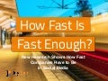How Fast is Fast Enough:  New research shows how fast companies have to respond in social media