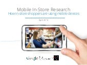 How in store shoppers are using mobile devices