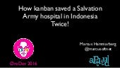 How kanban Saved a hospital in Indoneisa OreDev 2016