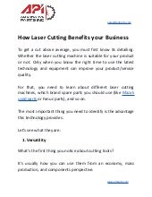 How laser cutting benefits your business