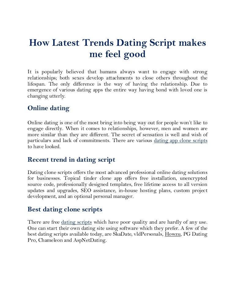 Free dating clone script