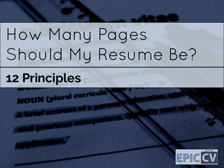 SlideShare  How Many Pages For A Resume