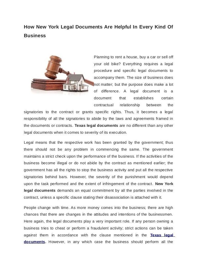 Texas Legal Documents - Texas legal documents