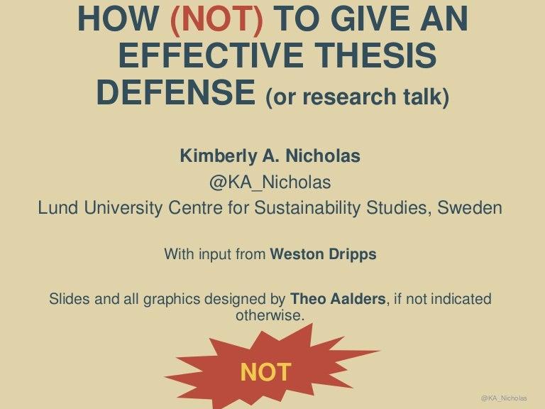 bachelor thesis defense