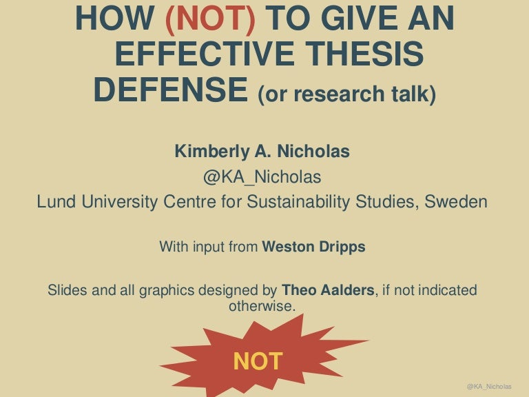 How (not) to give a thesis defense (or research talk)