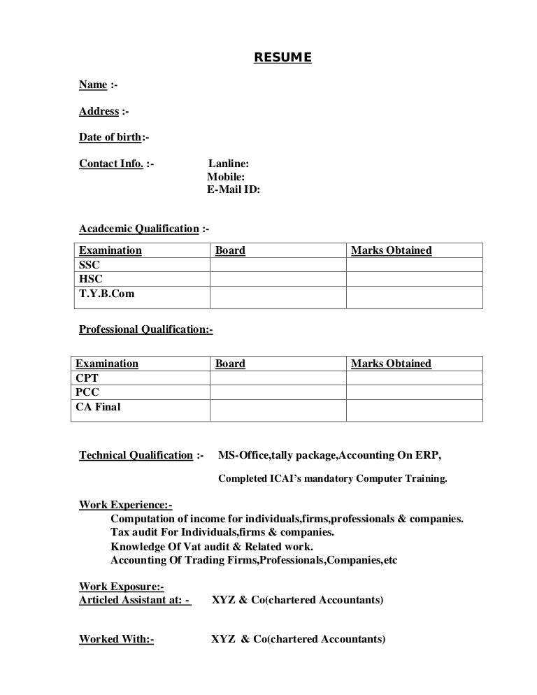 Format On How To Make A Resume  Resume Format And Resume Maker