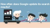 How often does google update its search results?